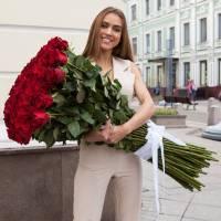 Красные розы высотой 150 см R886